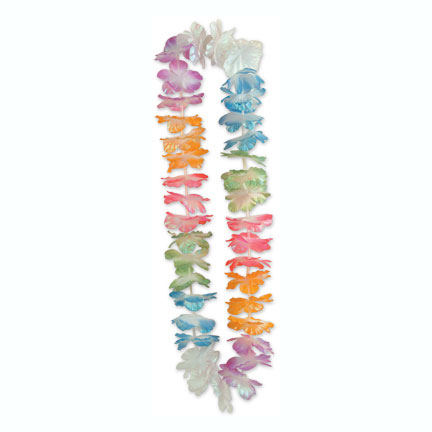 SILK'N PETAL LEIS IRID 40 IN. (12/CASE) PARTY SUPPLIES