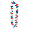 PATRIOTIC STAR LEIS (12/CASE) PARTY SUPPLIES