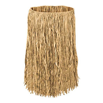Click for larger picture of ADULT RAFFIA HULA SKIRT NATURAL PARTY SUPPLIES