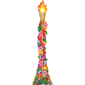JOINTED FLOWER TIKI TORCH PARTY SUPPLIES