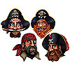 PIRATE CREW DECORATION(4/PKG-12PKG/CASE) PARTY SUPPLIES