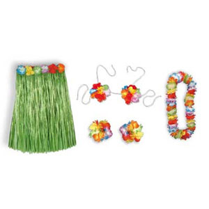 COMPLETE CHILD HULA OUTFIT PARTY SUPPLIES