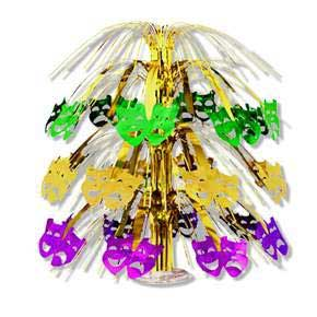 Click for larger picture of MARDI GRAS CASCADE CENTERPIECE (18IN.) * PARTY SUPPLIES