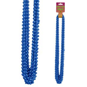 Click for larger picture of BLUE SMALL ROUND BLUE PARTY BEADS 12/CT PARTY SUPPLIES