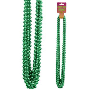 GREEN SMALL ROUND PARTY BEADS 12/CT PARTY SUPPLIES