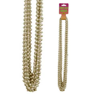 GOLD SMALL ROUND PARTY BEADS 12/CT PARTY SUPPLIES