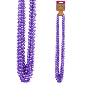Click for larger picture of PURPLE SMALL ROUND PARTY BEADS 12/CT PARTY SUPPLIES