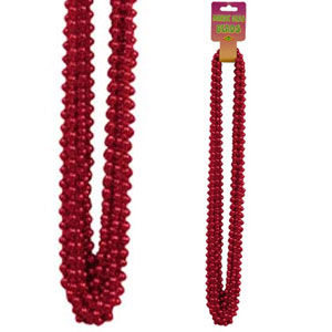 RED SMALL ROUND PARTY BEADS 12/CT PARTY SUPPLIES