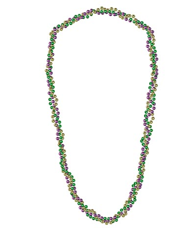 BRAIDED MARDI GRAS BEAD (12/CASE) PARTY SUPPLIES