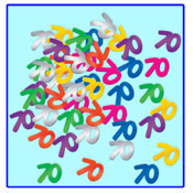 Click for larger picture of 70TH CONFETTI PARTY SUPPLIES