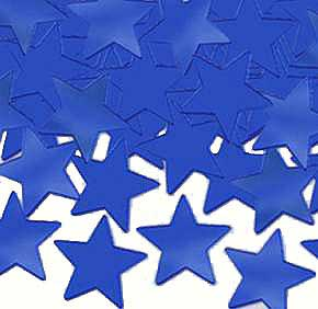 Click for larger picture of BLUE STAR CONFETTI (1 OZ.) PARTY SUPPLIES