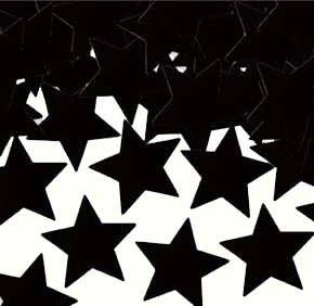 Click for larger picture of CONFETTI STARS BLACK (12 PKG/CS) PARTY SUPPLIES