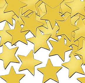 Click for larger picture of CONFETTI STARS GOLD (12 PKG/CS) PARTY SUPPLIES