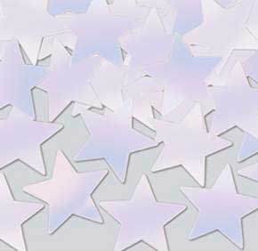 Click for larger picture of OPALESCENT STAR CONFETTI (1 OZ.) PARTY SUPPLIES