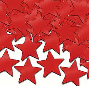Click for larger picture of CONFETTI STARS RED (12 PKG/CS) PARTY SUPPLIES