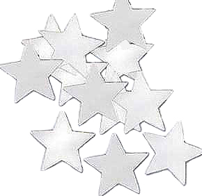 Click for larger picture of CONFETTI STARS SILVER (12 PKG/CS) PARTY SUPPLIES
