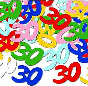 Click for larger picture of 30TH BIRTHDAY CONFETTI PARTY SUPPLIES