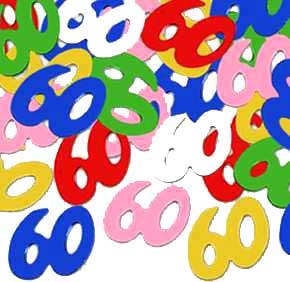 CONFETTI 60 SILHOUETTES MULTI COLOR PARTY SUPPLIES Info Category BULK 60TH BIRTHDAY DECORATIONS