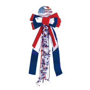 PATRIOTS PRIDE RIBBON  VELVET BOW PARTY SUPPLIES