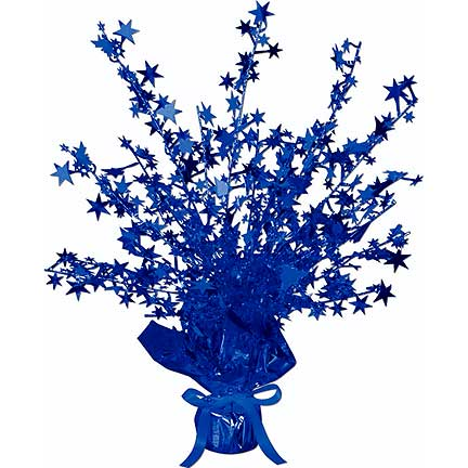 GLEAM N BURST BLUE STAR CENTERPC (12/CS) PARTY SUPPLIES