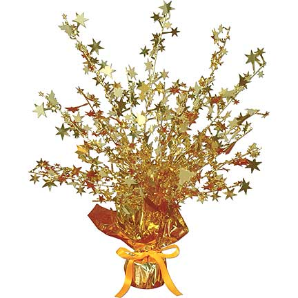 GOLD STAR GLEAM'N BURST CENTERPIECE 15IN PARTY SUPPLIES