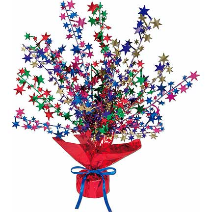 Click for larger picture of GLEAM N BURST MULTI STAR CENTERPC(12/CS) PARTY SUPPLIES