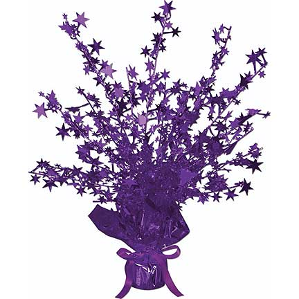 Click for larger picture of GLEAM N BURST PURPLE STAR CENTRPC(12/CS) PARTY SUPPLIES
