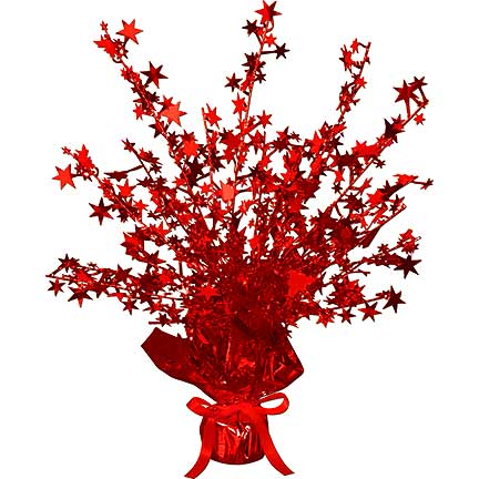GLEAM N BURST RED STAR CENTERPCE (12/CS) PARTY SUPPLIES