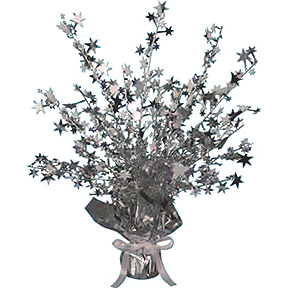 Click for larger picture of STAR GLEAM 'N BURST CENTERPIECE SILVER PARTY SUPPLIES