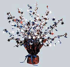Click for larger picture of PATRIOTIC GLEAM N BURST CENTERPIECE PARTY SUPPLIES