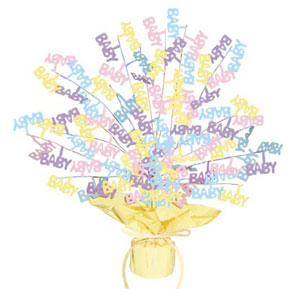 Click for larger picture of BABY SHOWER BURST CENTERPIECE (15IN.) PARTY SUPPLIES