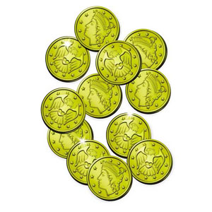 GOLD COINS (1200/CASE) PARTY SUPPLIES