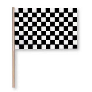 BLACK CHECK FLAG-4X6 PLASTIC EA (WOOD ST PARTY SUPPLIES
