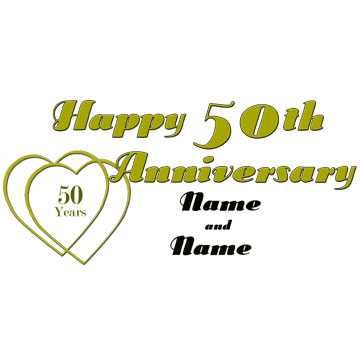Click for larger picture of PERSONALIZED 50TH ANNIVERSARY BANNER PARTY SUPPLIES