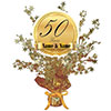 50TH ANNIVERSARY CUSTOMIZED CENTERPIECE PARTY SUPPLIES