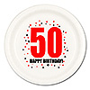 50TH BIRTHDAY DINNER PLATE 8-PKG PARTY SUPPLIES