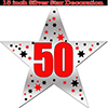 50TH SILVER STAR DECORATION PARTY SUPPLIES