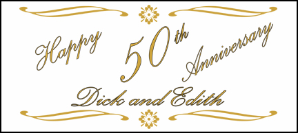 Click for larger picture of PERSONALIZED 50TH ANNIVERSARY ELEGANCE  PARTY SUPPLIES