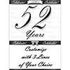 52 YEARS CLASSY BLACK DOOR BANNER PARTY SUPPLIES