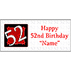 PERSONALIZED 52 YEAR OLD BANNER PARTY SUPPLIES