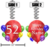 52ND BALLOON BLAST JUMBO CUSTOM DANGLER PARTY SUPPLIES