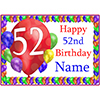52ND BALLOON BLAST CUSTOMIZED PLACEMAT PARTY SUPPLIES