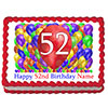 52ND BIRTHDAY BALLOON BLAST EDIBLE IMAGE PARTY SUPPLIES