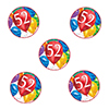 52ND BIRTHDAY BALLOON BLAST DECO FETTI PARTY SUPPLIES