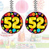 52ND BIRTHDAY BALLOON DANGLER PARTY SUPPLIES