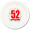52ND BIRTHDAY DINNER PLATE 8-PKG PARTY SUPPLIES