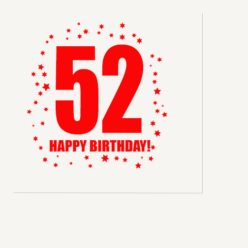 Click for larger picture of 52ND BIRTHDAY LUNCHEON NAPKIN 16-PKG PARTY SUPPLIES