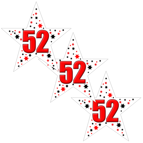Click for larger picture of 52ND BIRTHDAY STAR DECO FETTI PARTY SUPPLIES
