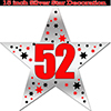 52ND SILVER STAR DECORATION PARTY SUPPLIES