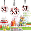 53! DANGLER DECORATION 3/PKG PARTY SUPPLIES